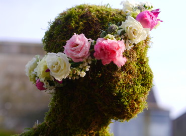 Bride's floral crown