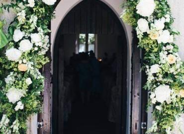 Chapel flower arch
