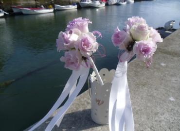 Flowergirls' pink fairy wands