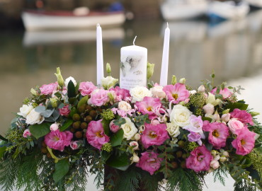 Marriage candle arrangement