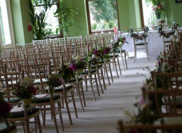 Wedding aisle and bridal chair flowers