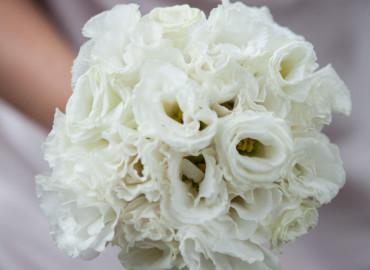 White lisianthus bouqueta