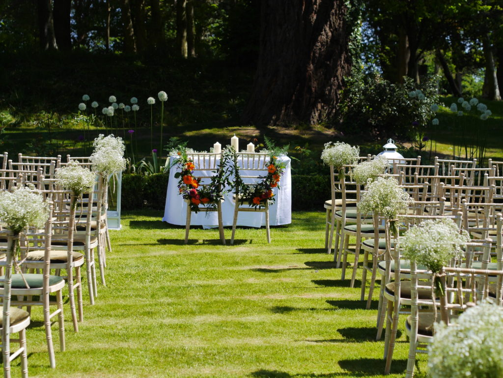 Pew ends and wedding flowers
