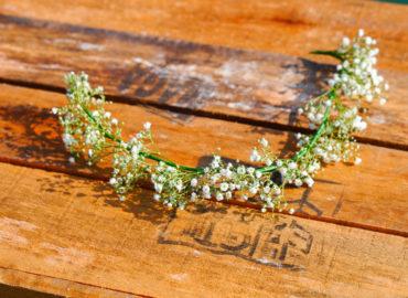 Pop Of Orange Wedding - Bride's tiara