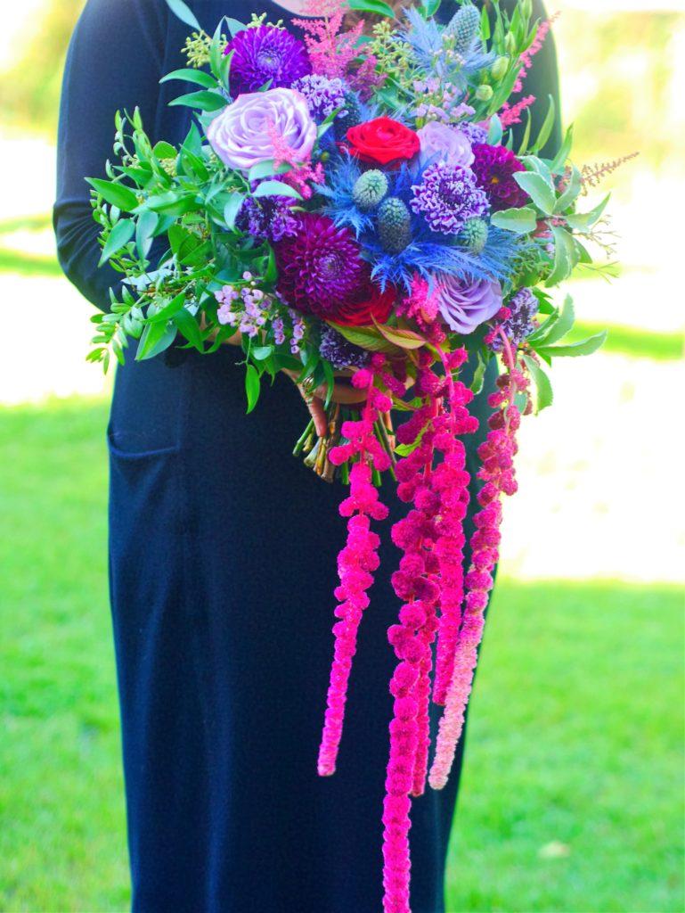 Cascading bride's bouquet