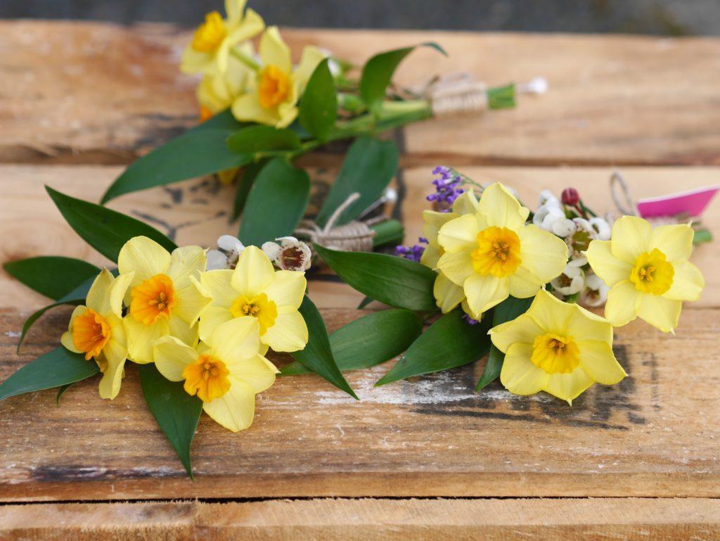 Springy buttonhole flowers