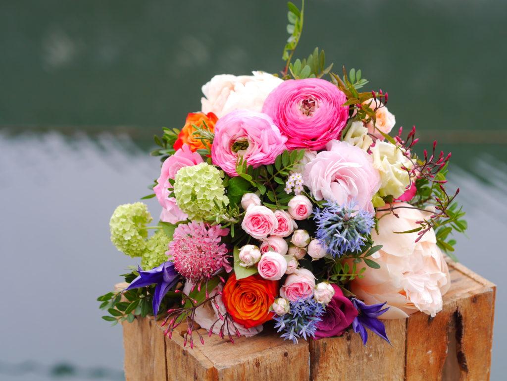 Tutti-frutti brides bouquet