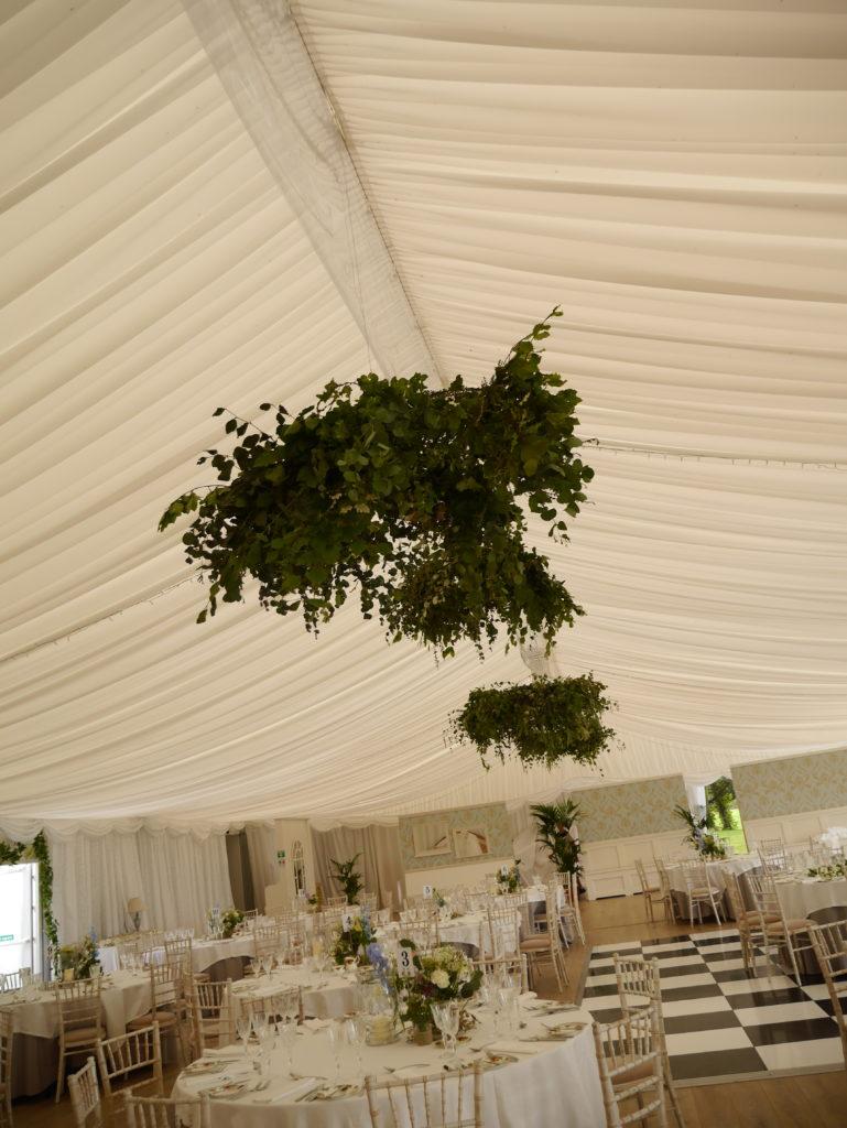 Ceiling wedding flowers