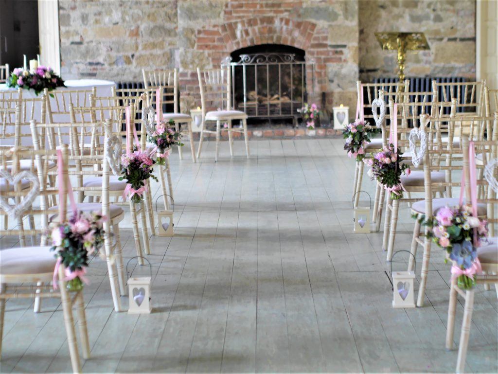 Castle hall wedding flowers