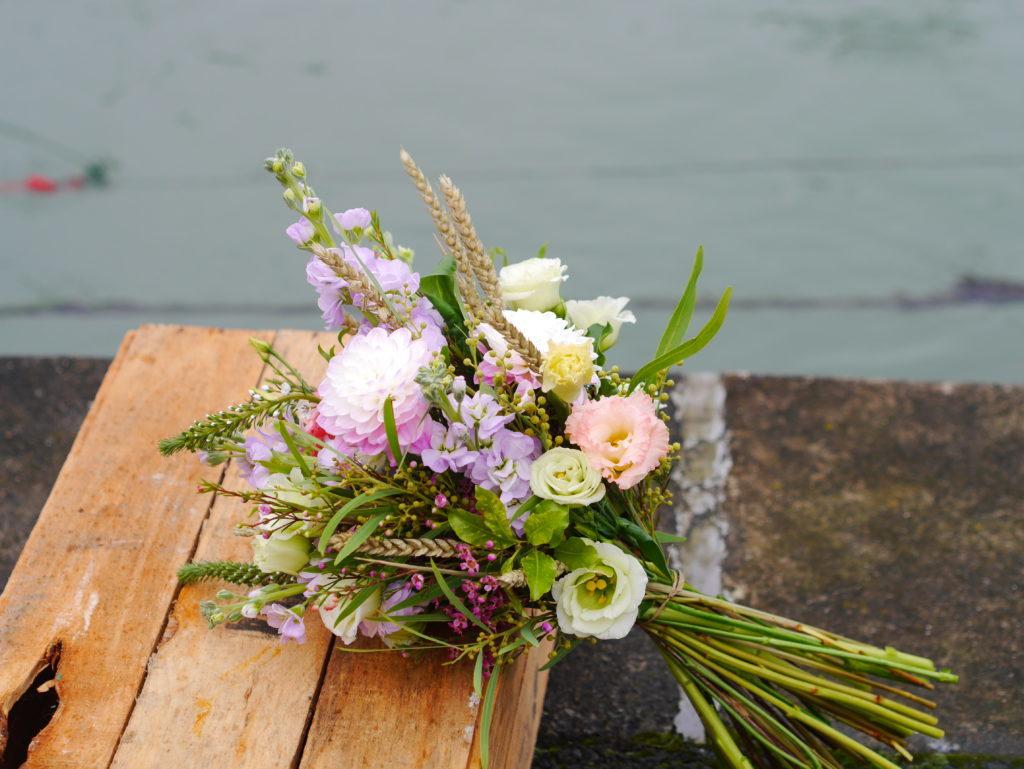 Wild flowers and dried wheat bouquet Glendalough wedding