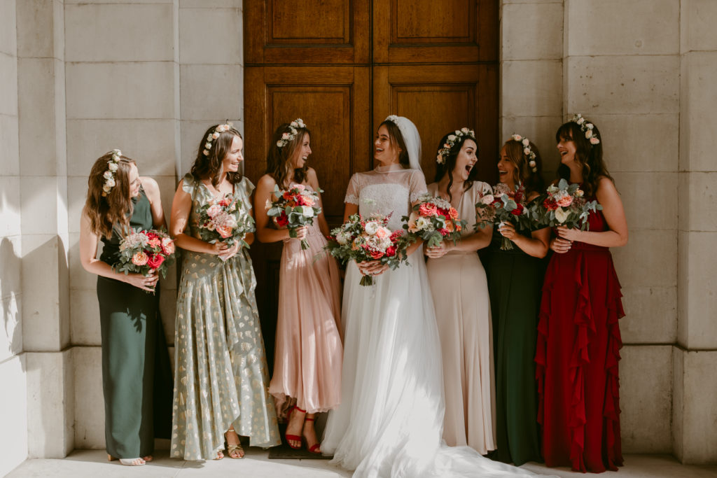 Bride's and bridesmaids' bouquets